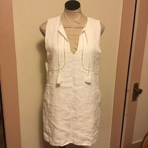 aa07fea57cb Sincerely Jules Dresses - SINCERELY JULES - NWT Linen Tank Dress - White